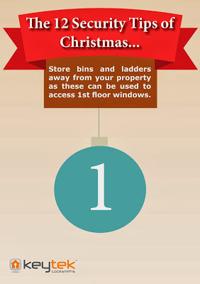 Keytek locksmiths The 12 Security Tips of Christmas Tip 1