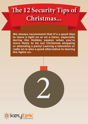 Keytek locksmiths The 12 Security Tips of Christmas Tip 2