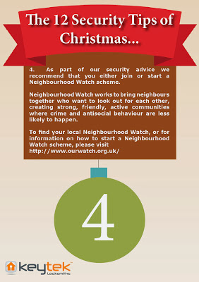 Tip 4 of Keytek LocksmithsThe 12 Security Tips of Christmas