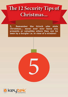 Keytek emergency locksmiths tip 5 of the 12 security tips of Christmas