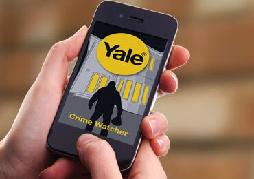 Using home security app Yale Crime Watcher