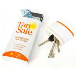 Use a Tan Safe to keep your valuables safe on the beach