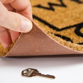 Over 20% of Britons still leave a spare key hidden outside of their property Image