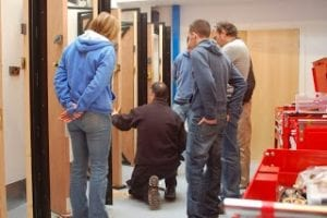 Locksmith training in action
