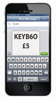 Text donation for Keytek locksmiths charity Glastonbury Bike Ride