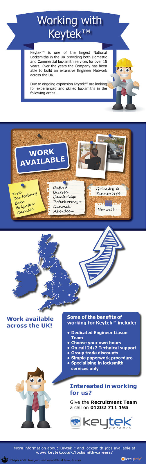 Locksmith jobs with Keytek Locksmiths Infographic