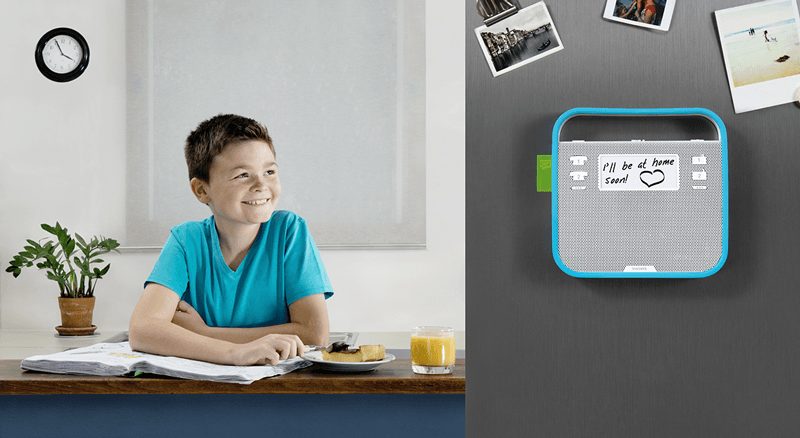 Invoxia is a revolutionary speaker that acts as the hub of the family through music and communication