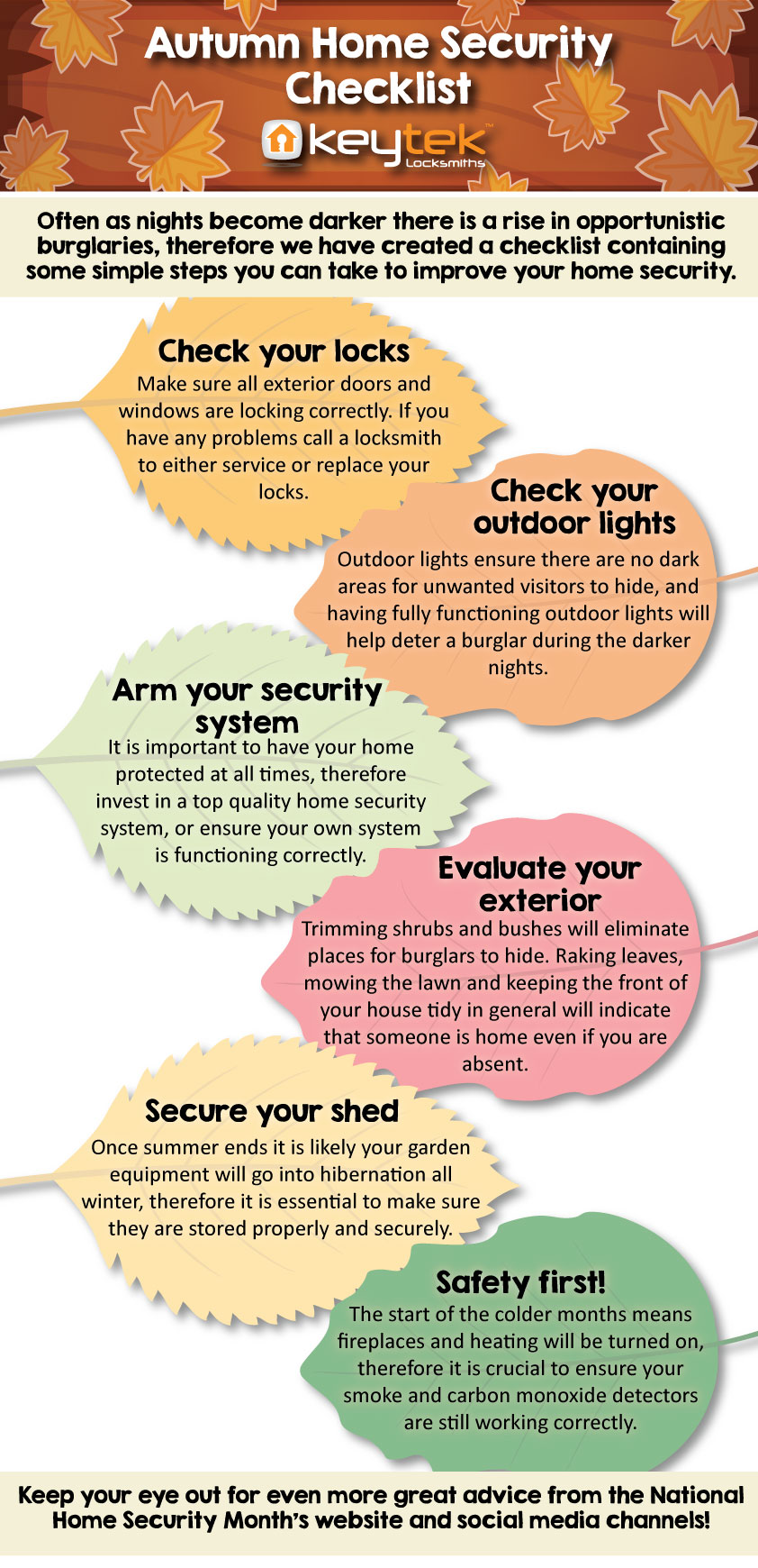 security checklist autumn